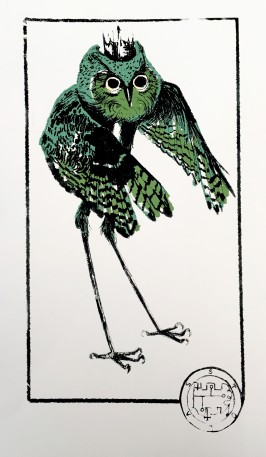 "Stolas, 11""x17"", 4 color screen print"